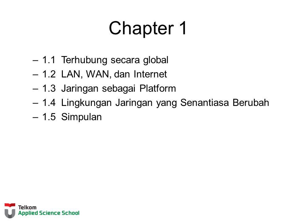 Chapter 1 1.1 Terhubung secara global 1.2 LAN, WAN, dan Internet