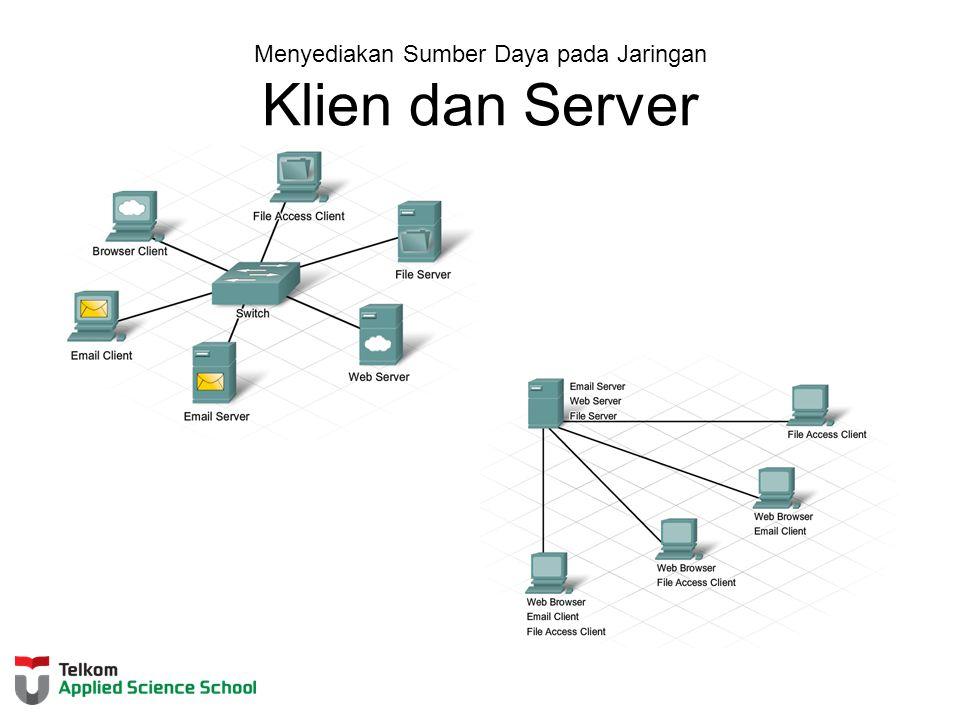Menyediakan Sumber Daya pada Jaringan Klien dan Server