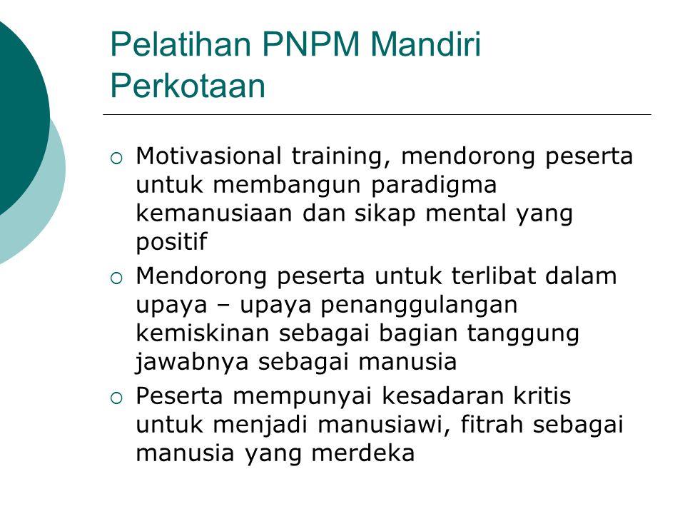 Pelatihan PNPM Mandiri Perkotaan