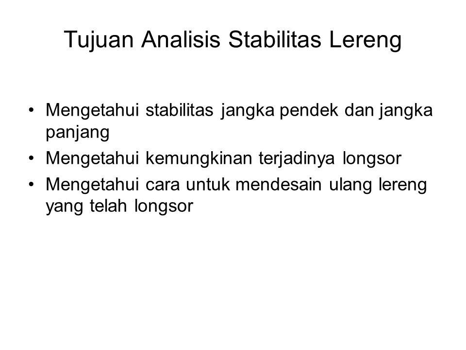 Tujuan Analisis Stabilitas Lereng