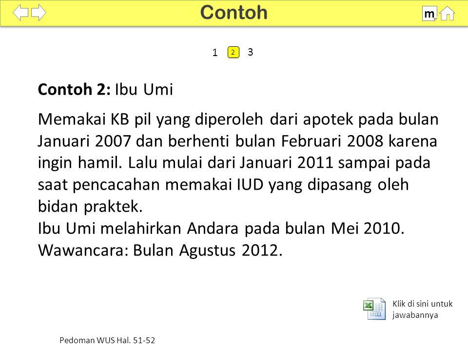 Contoh m. SDKI 2012. 100% 1. 2. 3. Contoh 2: Ibu Umi.