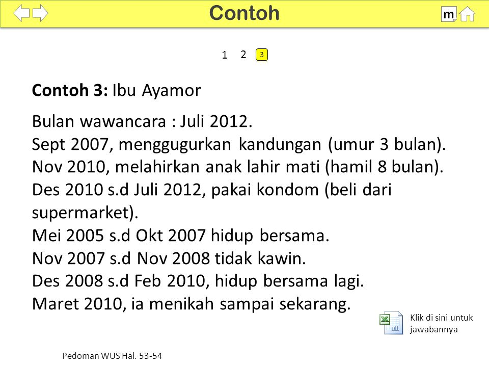 Contoh Contoh 3: Ibu Ayamor Bulan wawancara : Juli 2012.