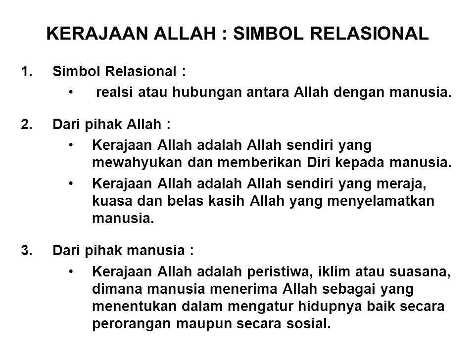 KERAJAAN ALLAH : SIMBOL RELASIONAL