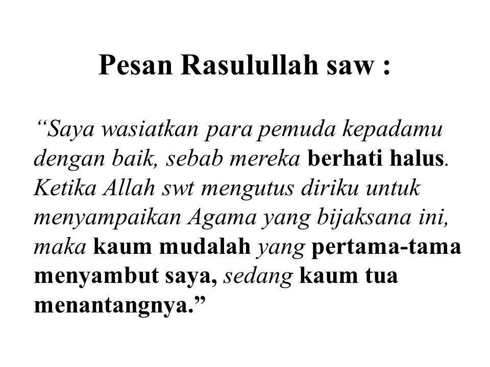 Pesan Rasulullah saw :