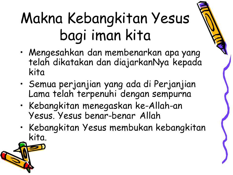 Makna Kebangkitan Yesus bagi iman kita