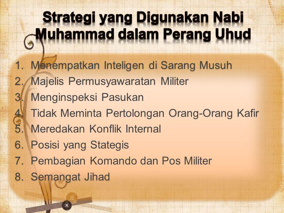 Strategi yang Digunakan Nabi Muhammad dalam Perang Uhud