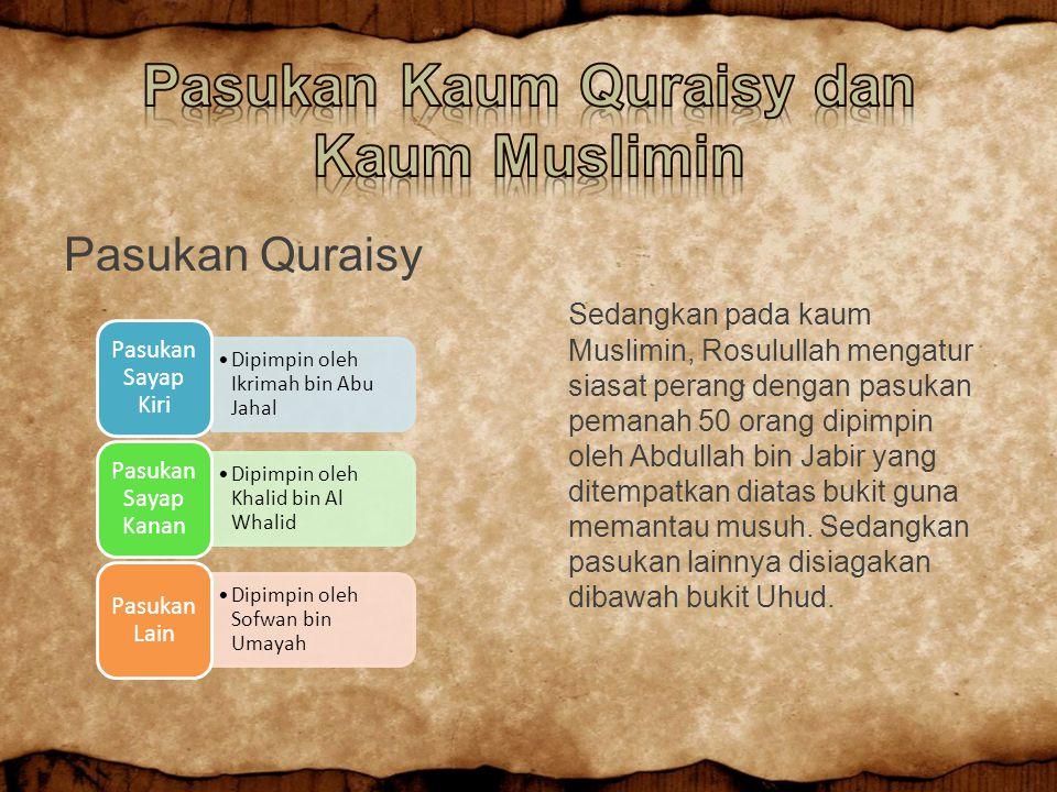 Pasukan Kaum Quraisy dan Kaum Muslimin
