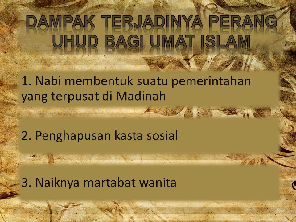 DAMPAK TERJADINYA PERANG UHUD BAGI UMAT ISLAM