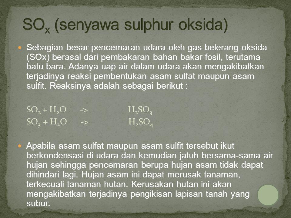 SOx (senyawa sulphur oksida)