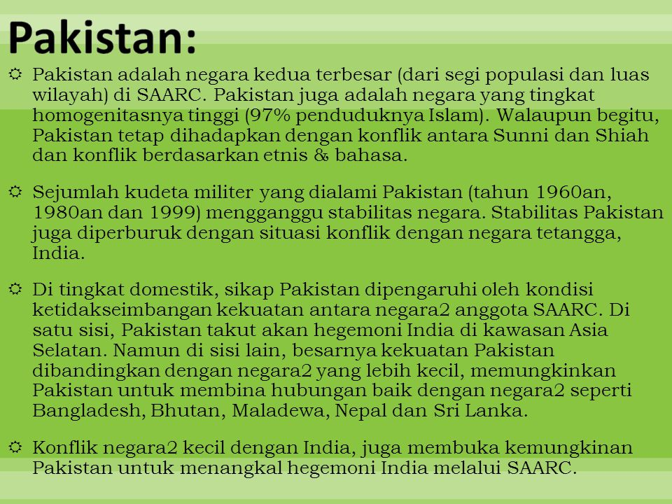 Pakistan: