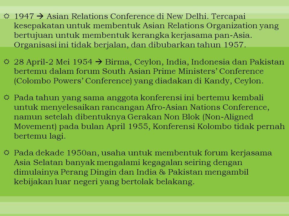 1947  Asian Relations Conference di New Delhi