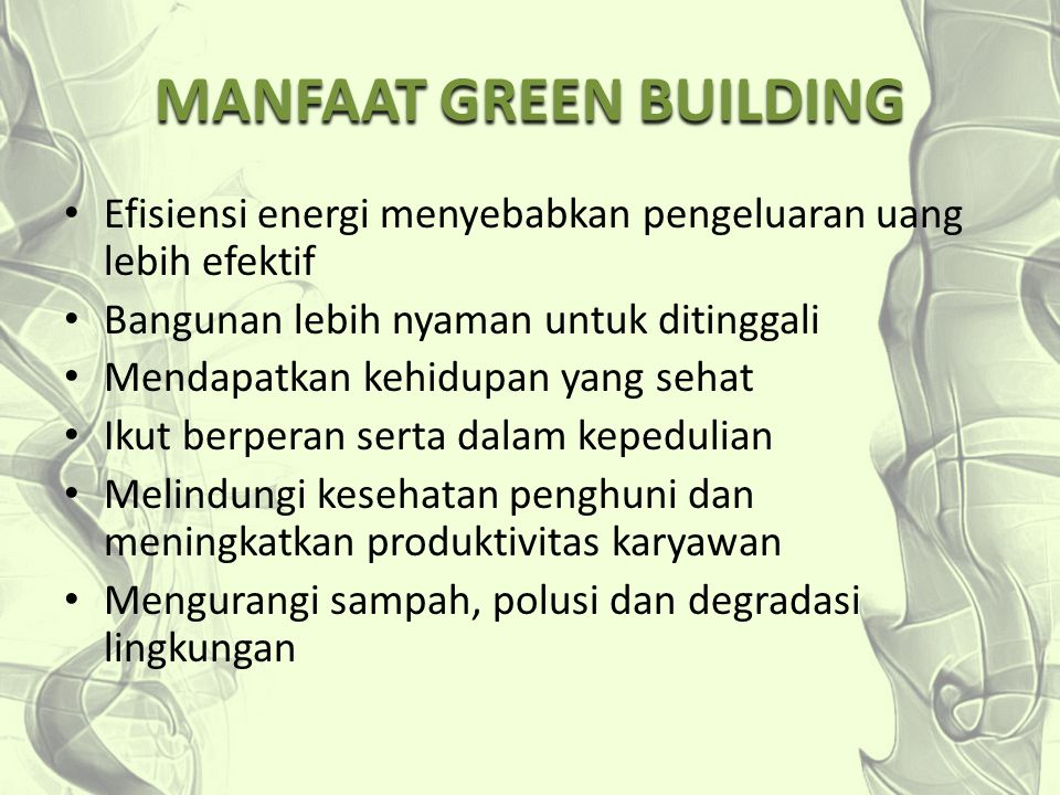 MANFAAT GREEN BUILDING