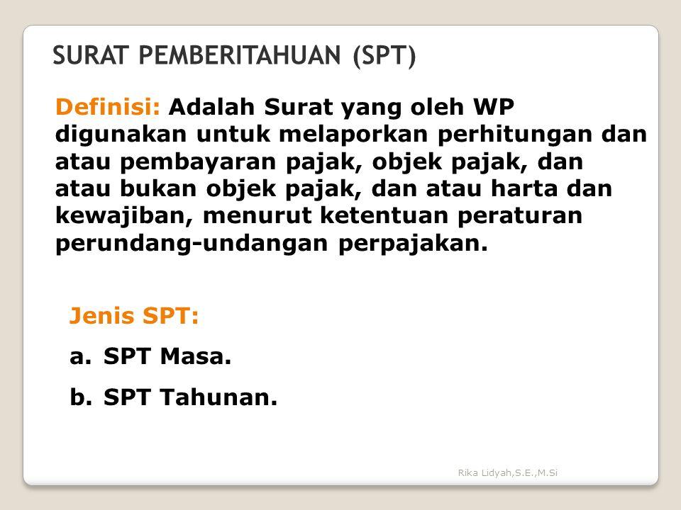 SURAT PEMBERITAHUAN (SPT)