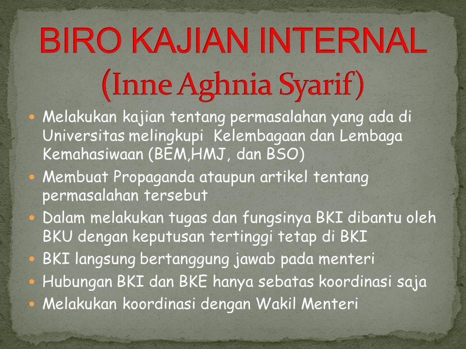 BIRO KAJIAN INTERNAL (Inne Aghnia Syarif)