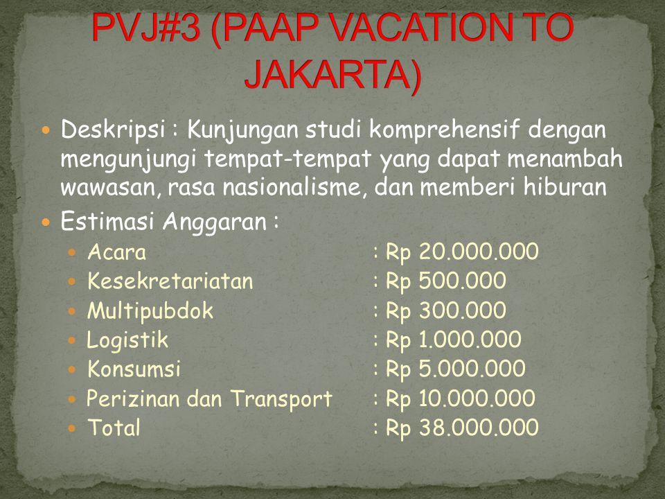 PVJ#3 (PAAP VACATION TO JAKARTA)
