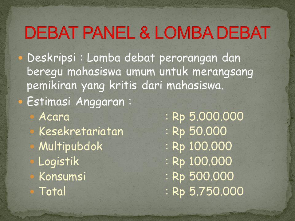 DEBAT PANEL & LOMBA DEBAT