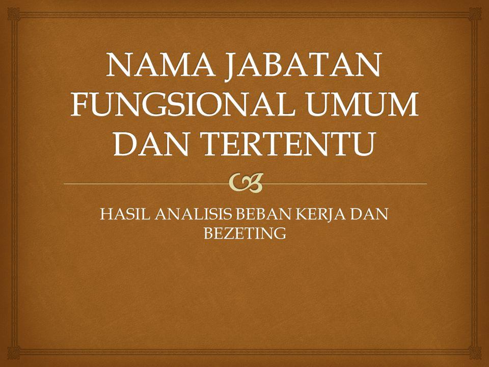 NAMA JABATAN FUNGSIONAL UMUM DAN TERTENTU