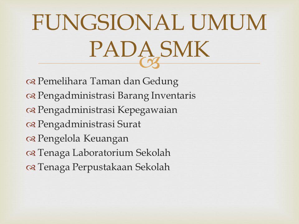 FUNGSIONAL UMUM PADA SMK
