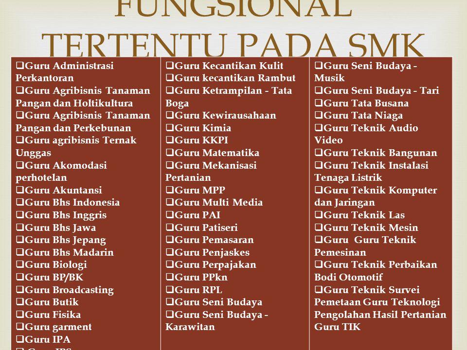 FUNGSIONAL TERTENTU PADA SMK