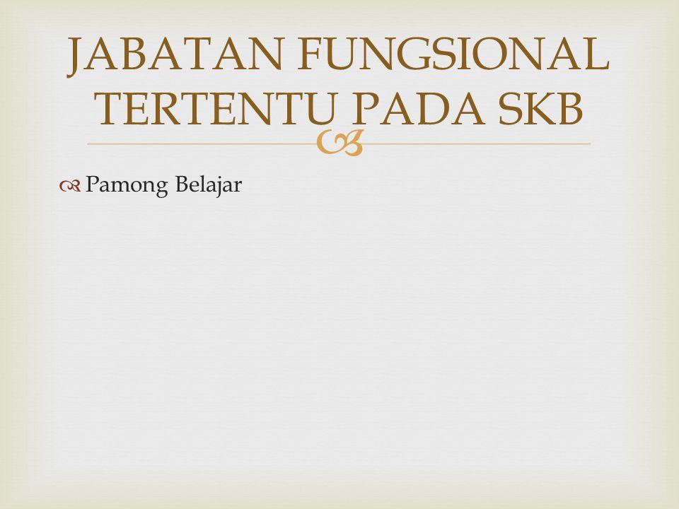 JABATAN FUNGSIONAL TERTENTU PADA SKB