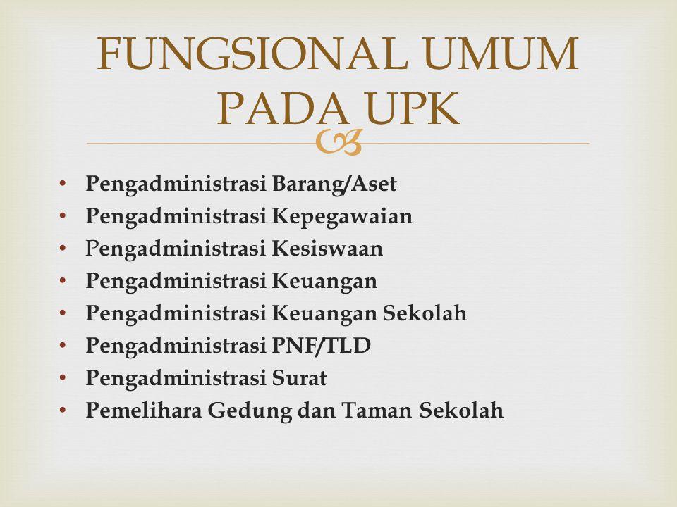 FUNGSIONAL UMUM PADA UPK