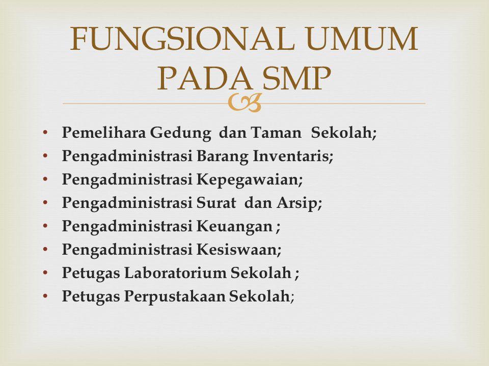 FUNGSIONAL UMUM PADA SMP