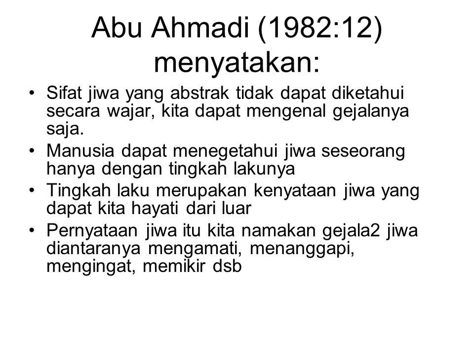 Abu Ahmadi (1982:12) menyatakan: