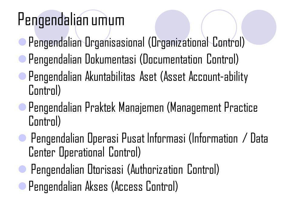 Pengendalian umum Pengendalian Organisasional (Organizational Control)