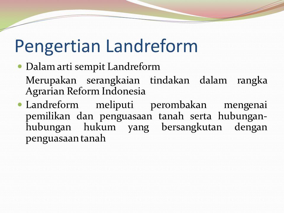 Pengertian Landreform