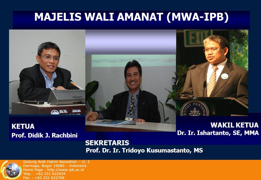 MAJELIS WALI AMANAT (MWA-IPB) Prof. Dr. Ir. Tridoyo Kusumastanto, MS
