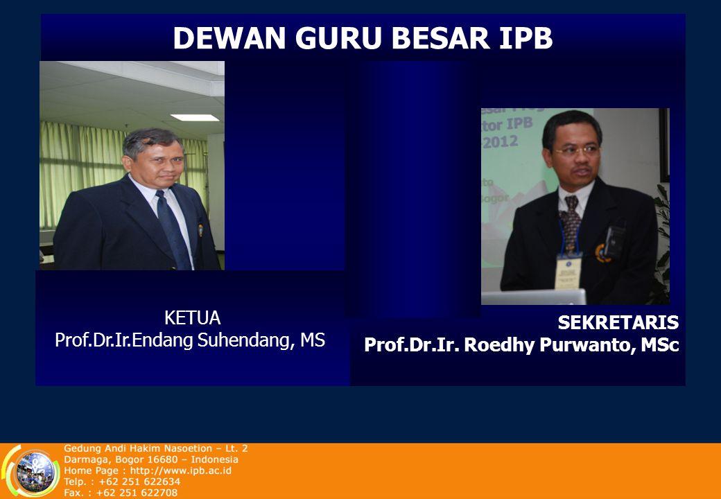 Prof.Dr.Ir.Endang Suhendang, MS