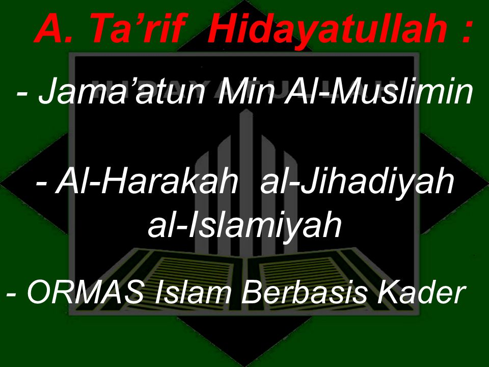A. Ta'rif Hidayatullah :