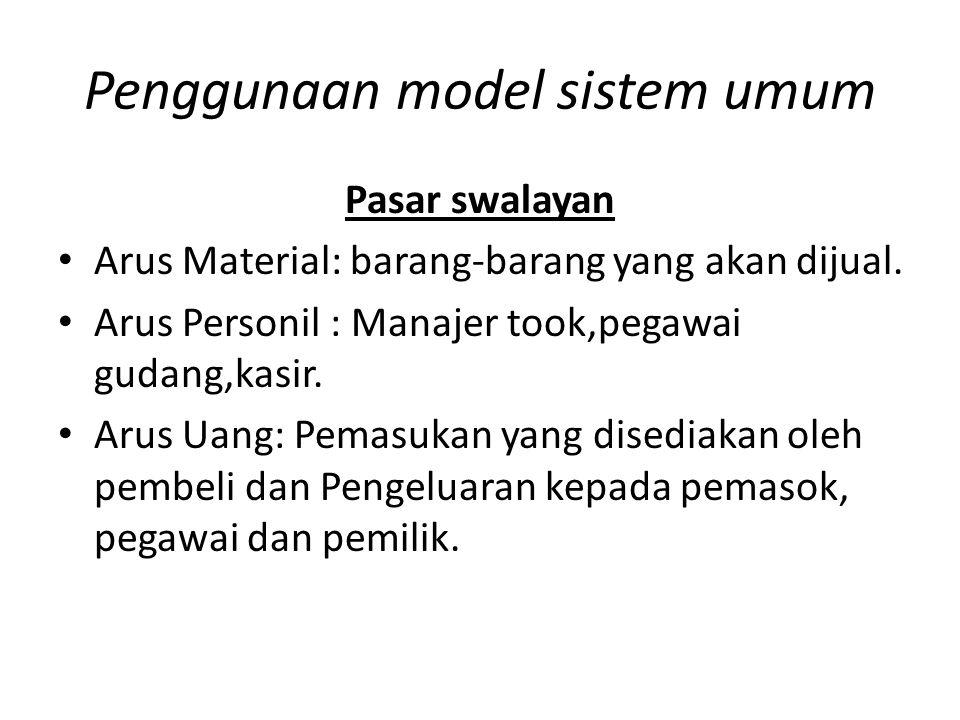 Penggunaan model sistem umum