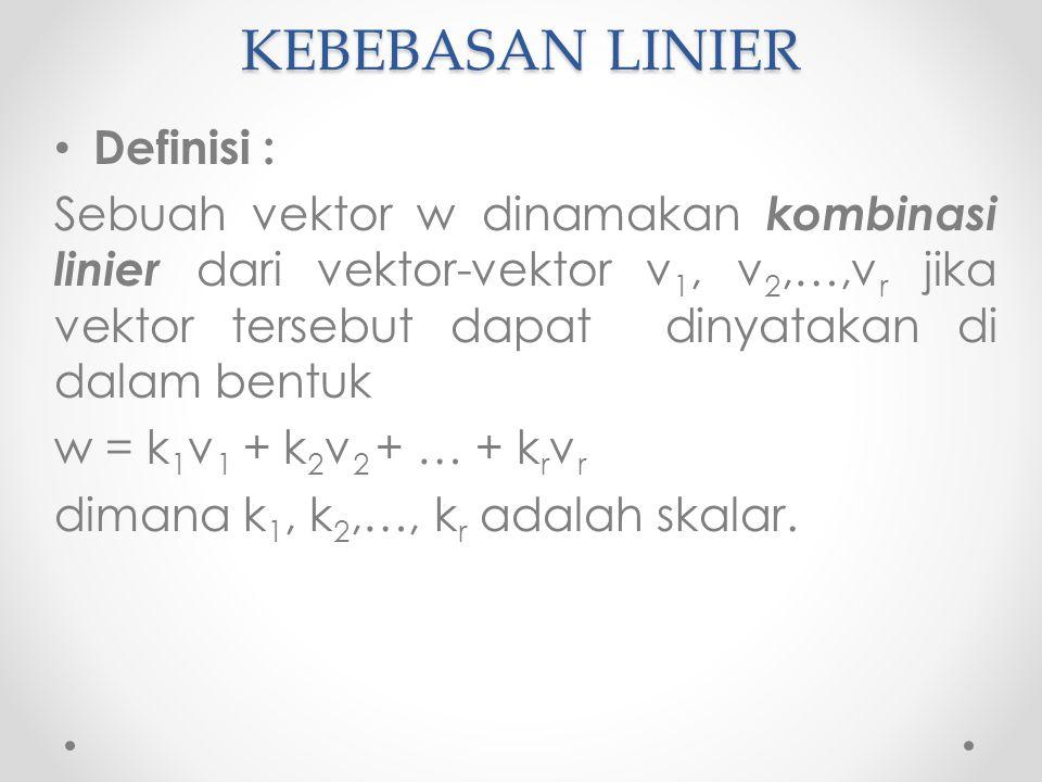 KEBEBASAN LINIER Definisi :