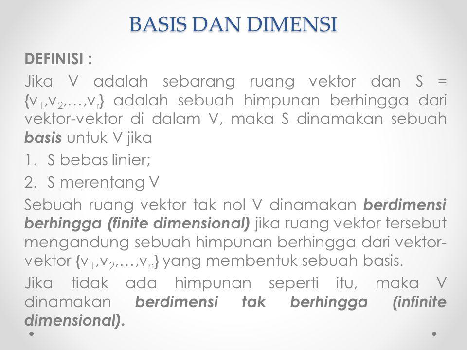 BASIS DAN DIMENSI DEFINISI :