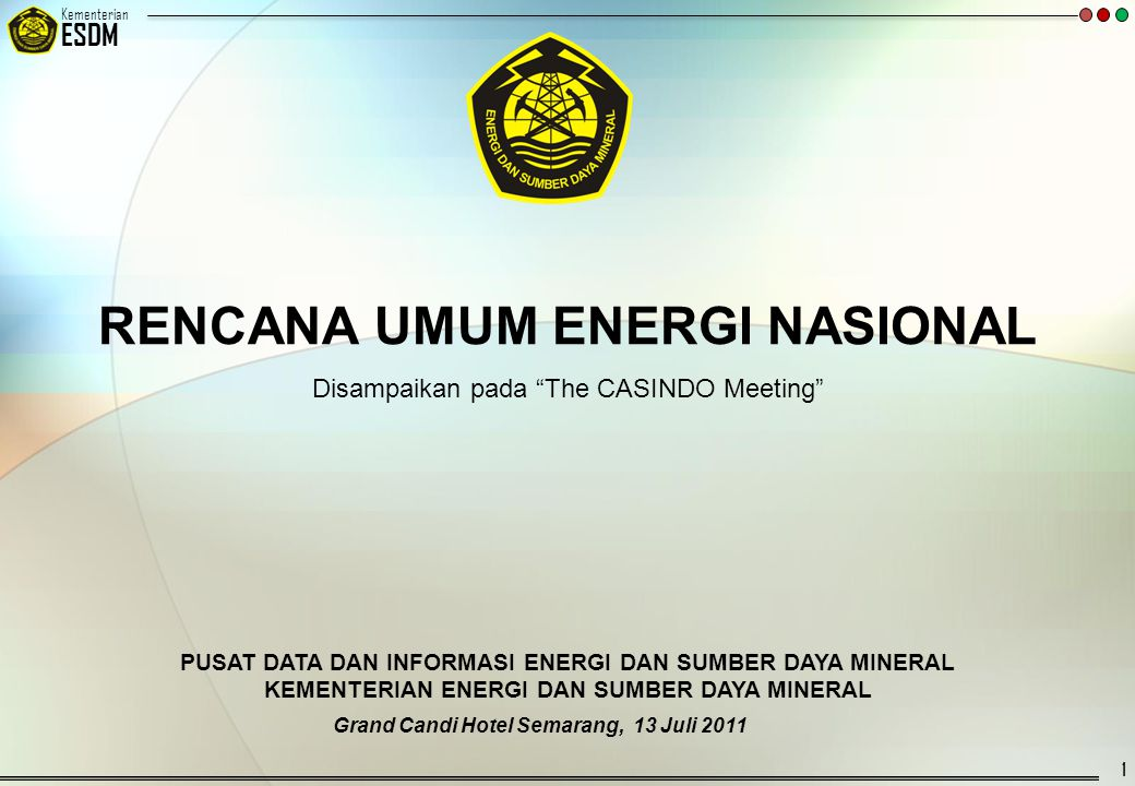 RENCANA UMUM ENERGI NASIONAL