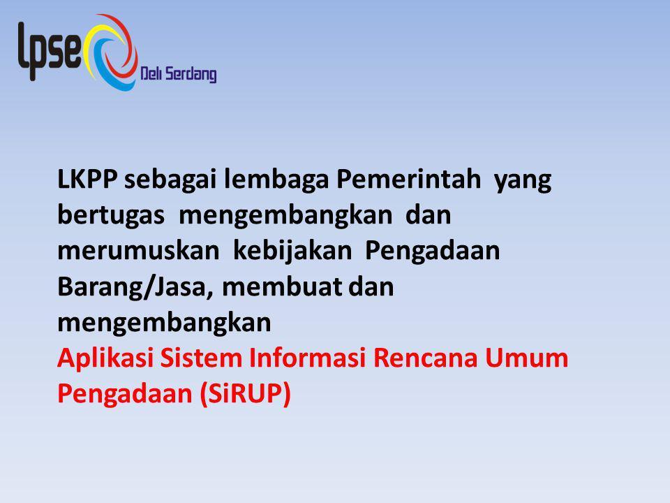 LKPP sebagai lembaga Pemerintah yang