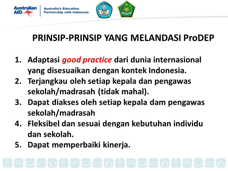PRINSIP-PRINSIP YANG MELANDASI ProDEP