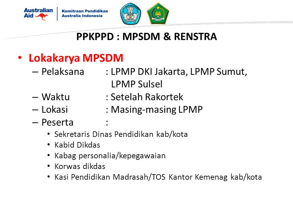 PPKPPD : MPSDM & RENSTRA