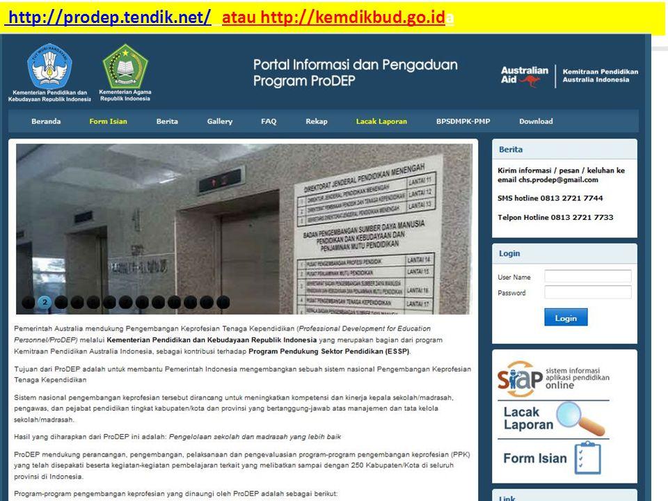 http://prodep.tendik.net/ atau http://kemdikbud.go.ida