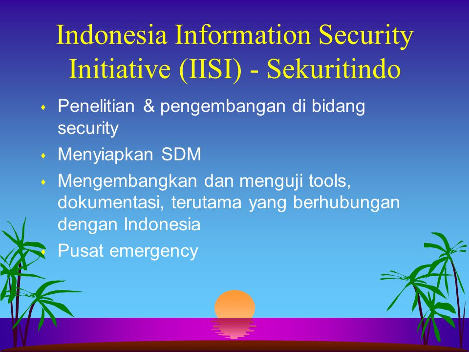 Indonesia Information Security Initiative (IISI) - Sekuritindo