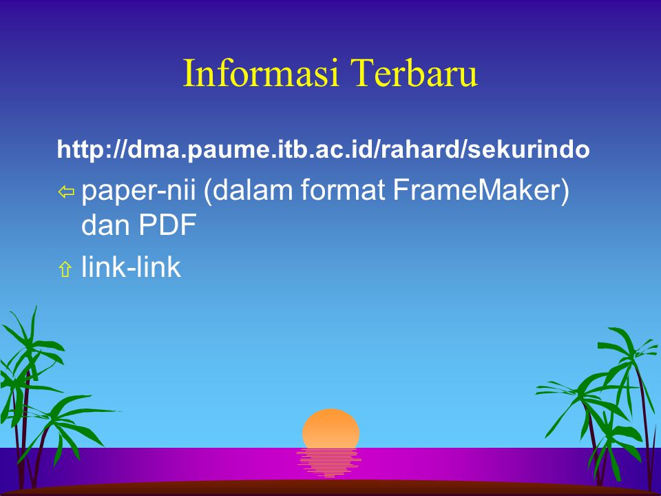 Informasi Terbaru paper-nii (dalam format FrameMaker) dan PDF