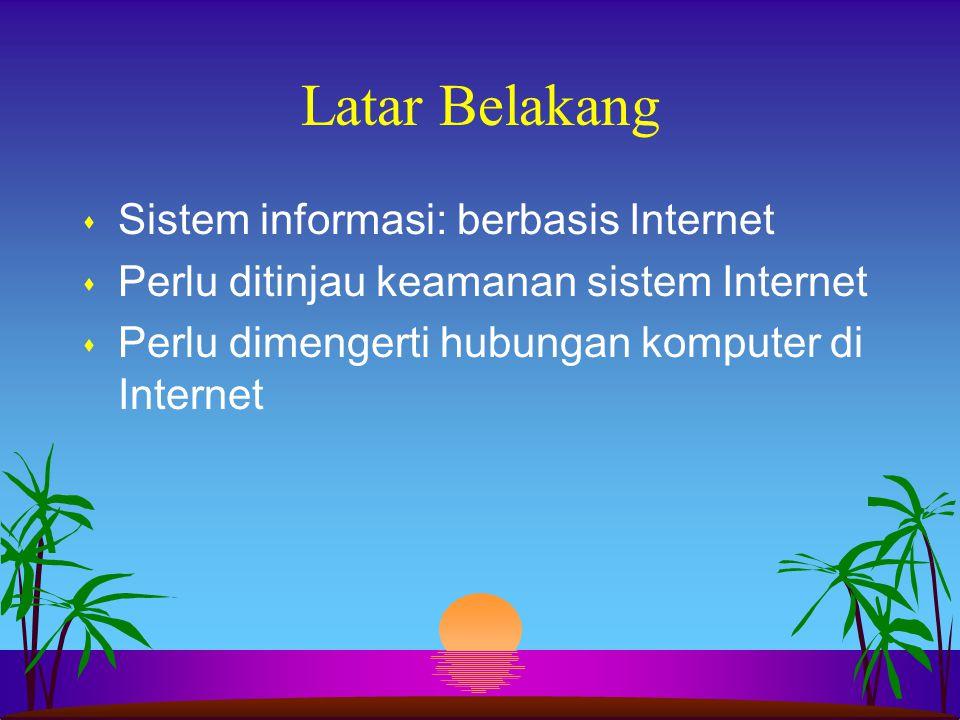 Latar Belakang Sistem informasi: berbasis Internet