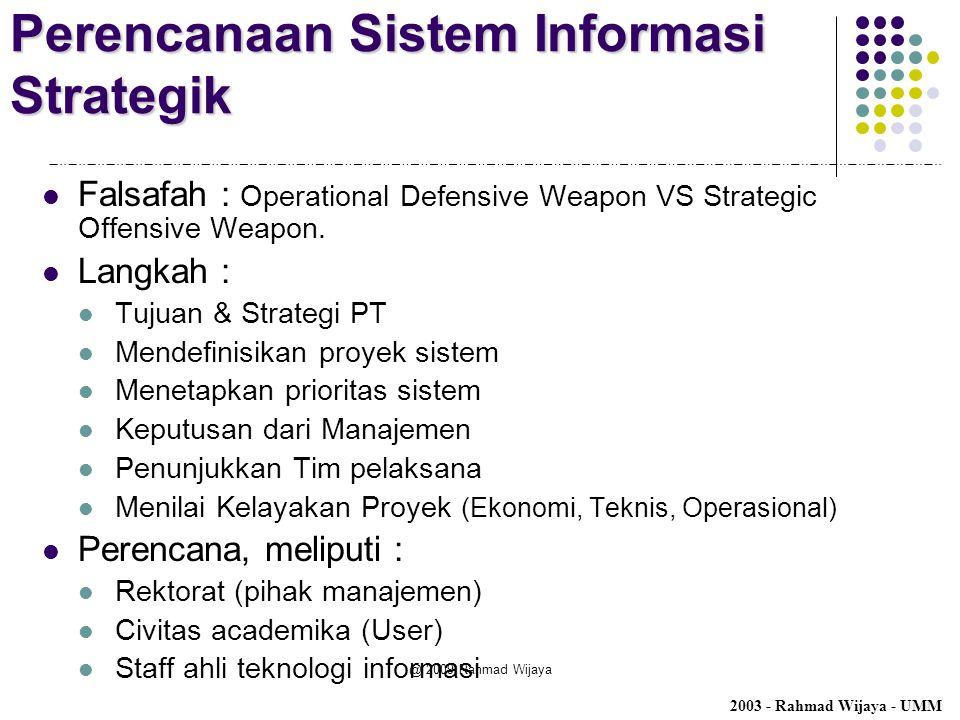 Perencanaan Sistem Informasi Strategik