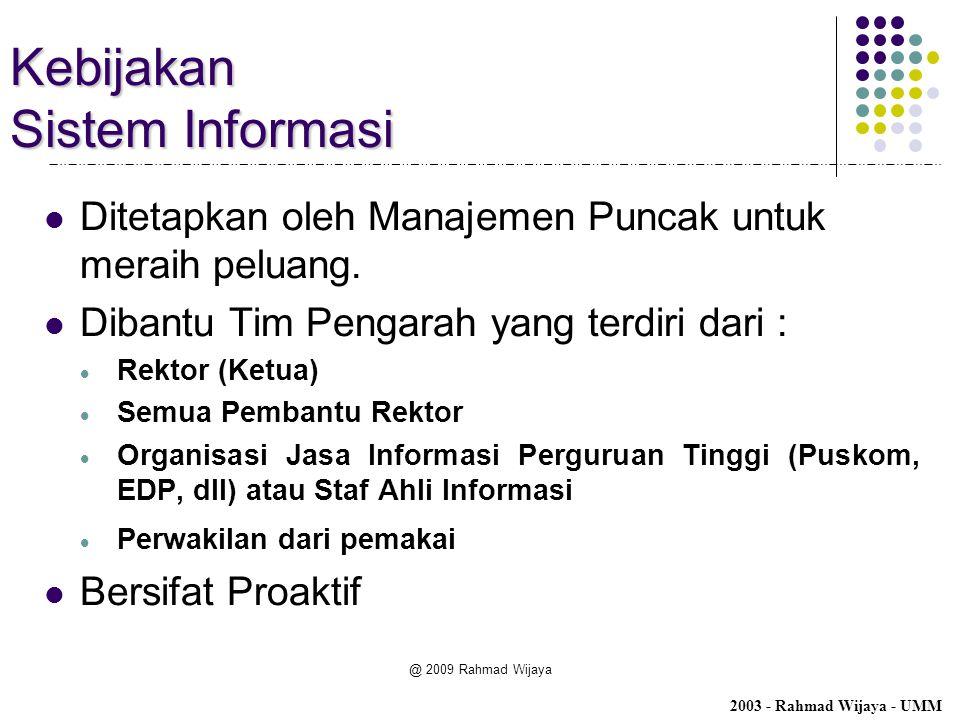 Kebijakan Sistem Informasi