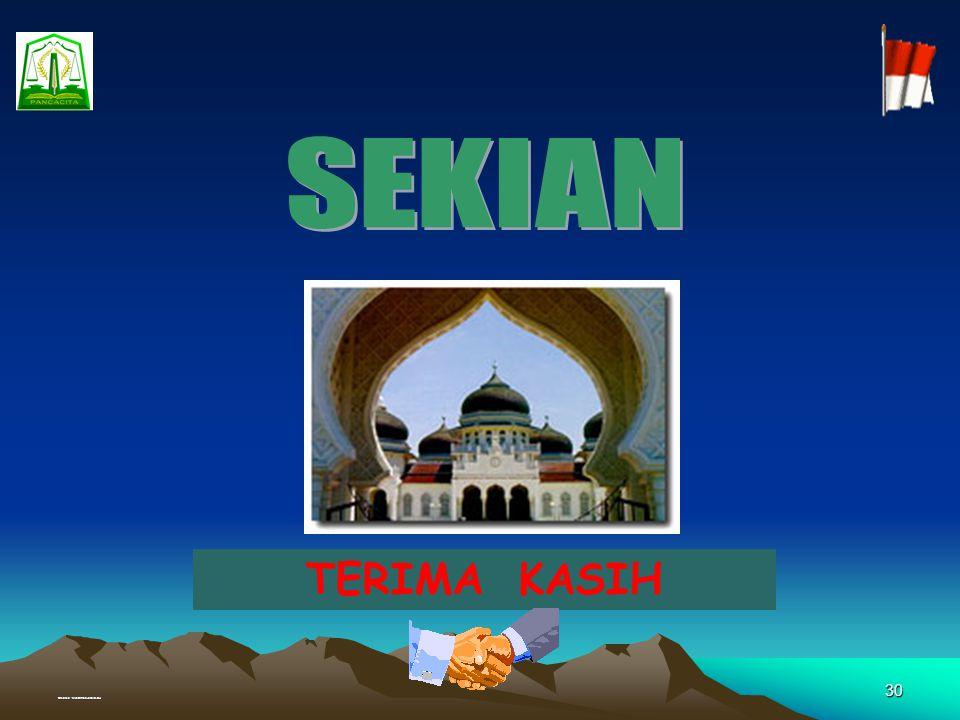 SEKIAN TERIMA KASIH Created : Muhammad Junaidi, SH