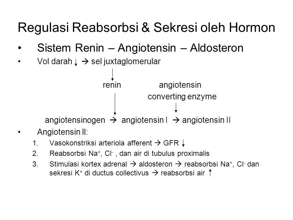 Regulasi Reabsorbsi & Sekresi oleh Hormon