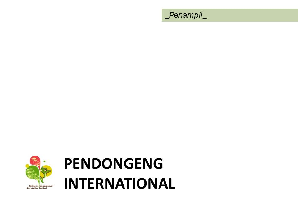 Pendongeng InTERNATIONAL