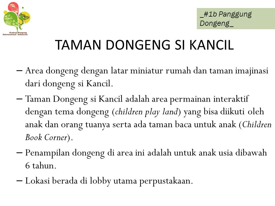 TAMAN DONGENG SI KANCIL