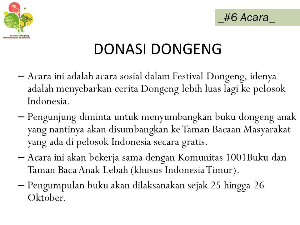 DONASI DONGENG _#6 Acara_